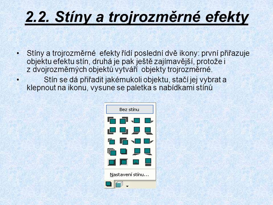 2.2. Stíny a trojrozměrné efekty