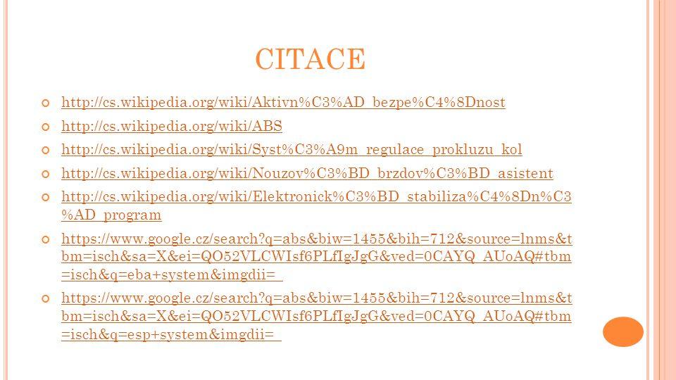 CITACE http://cs.wikipedia.org/wiki/Aktivn%C3%AD_bezpe%C4%8Dnost