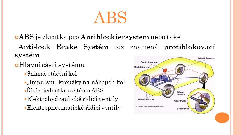 ABS ABS je zkratka pro Antiblockiersystem nebo také