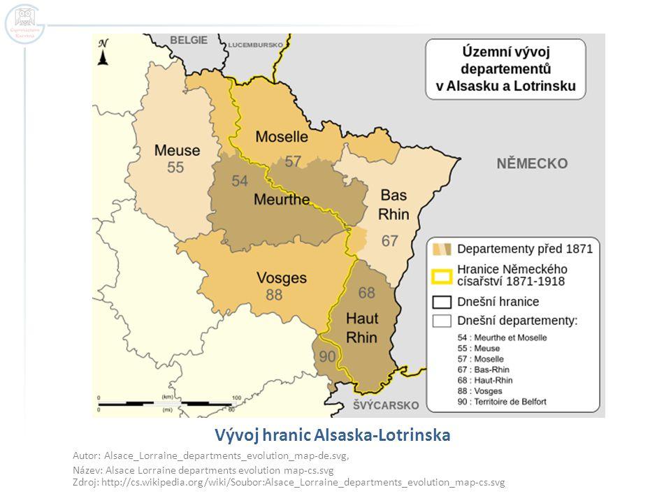 Vývoj hranic Alsaska-Lotrinska