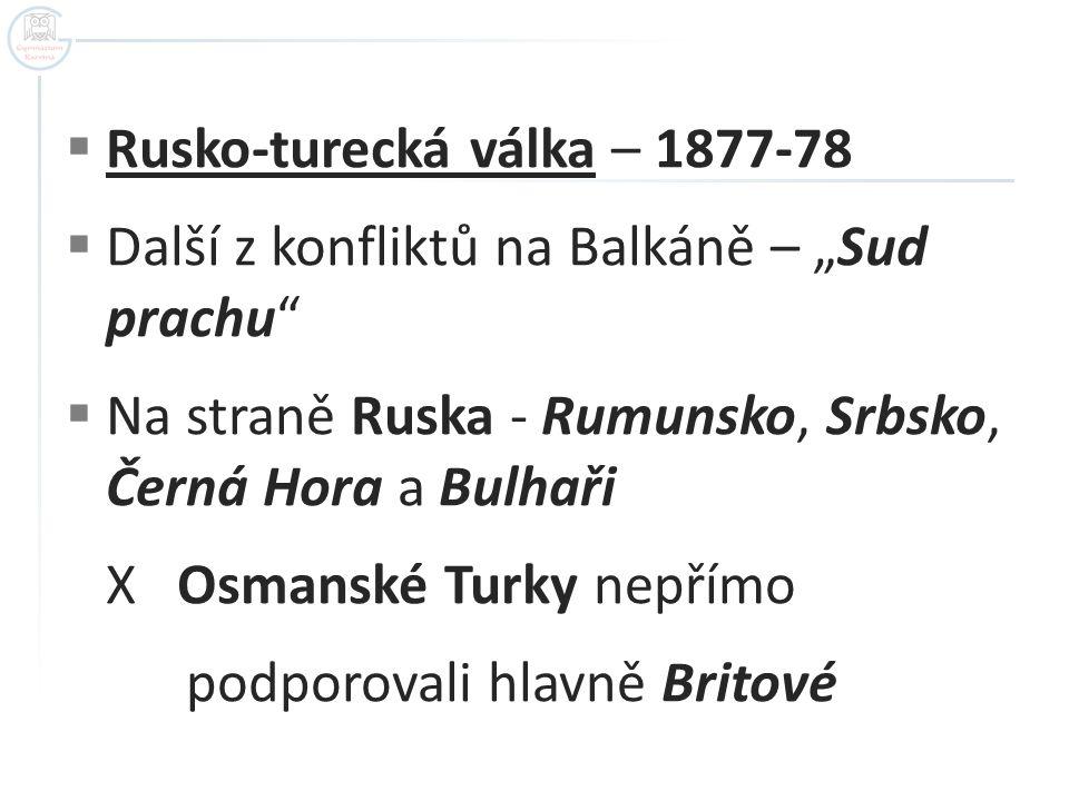 Rusko-turecká válka – 1877-78