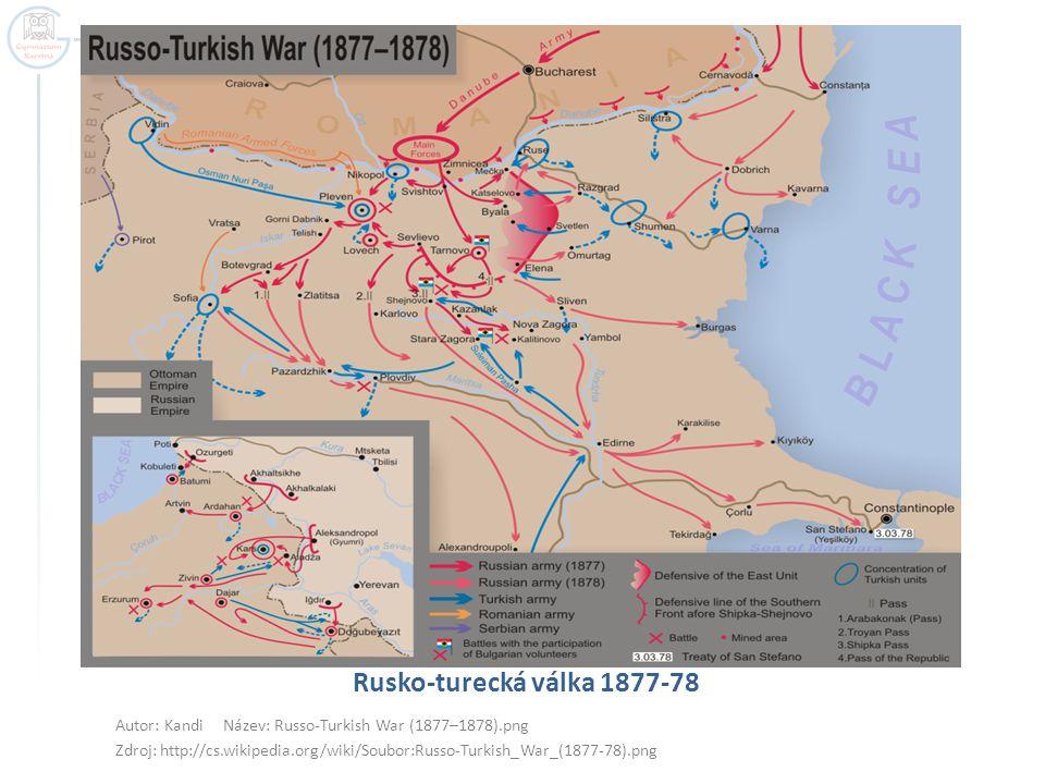 Rusko-turecká válka 1877-78 Autor: Kandi Název: Russo-Turkish War (1877–1878).png.