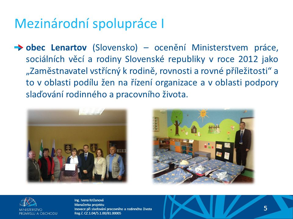 Mezinárodní spolupráce I