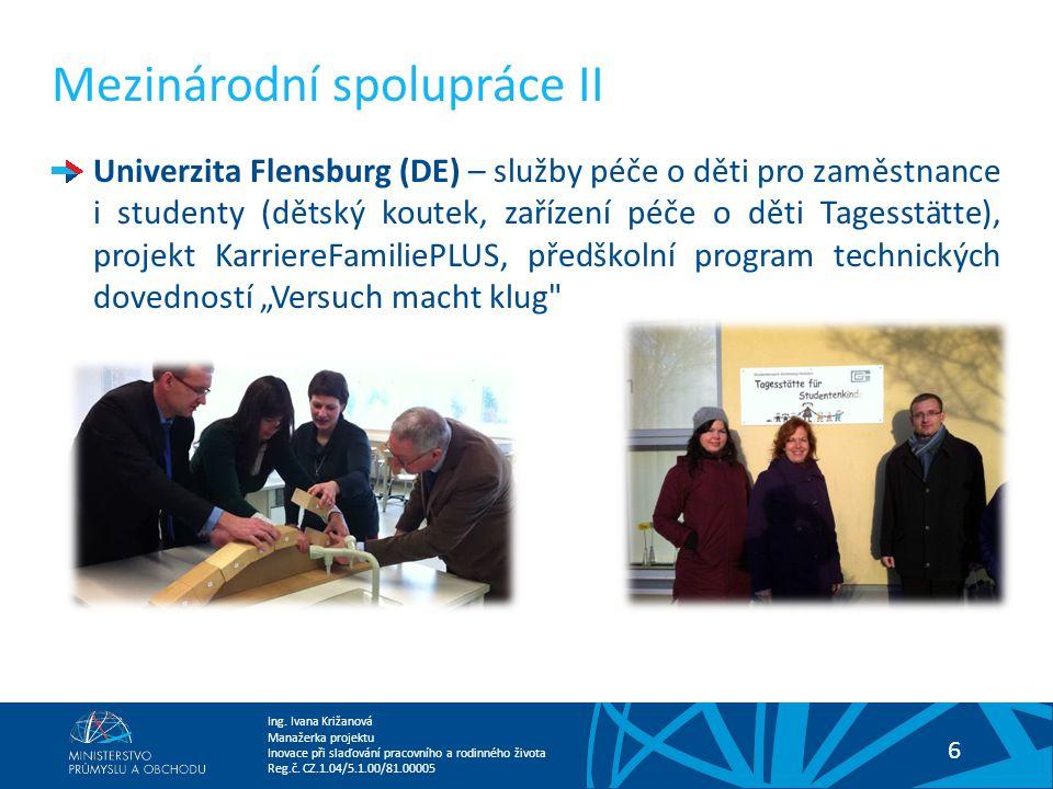 Mezinárodní spolupráce II
