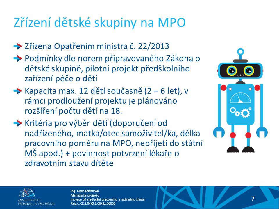 Zřízení dětské skupiny na MPO
