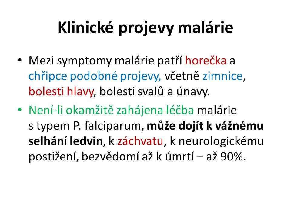 Klinické projevy malárie