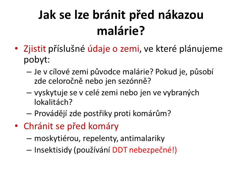 Jak se lze bránit před nákazou malárie