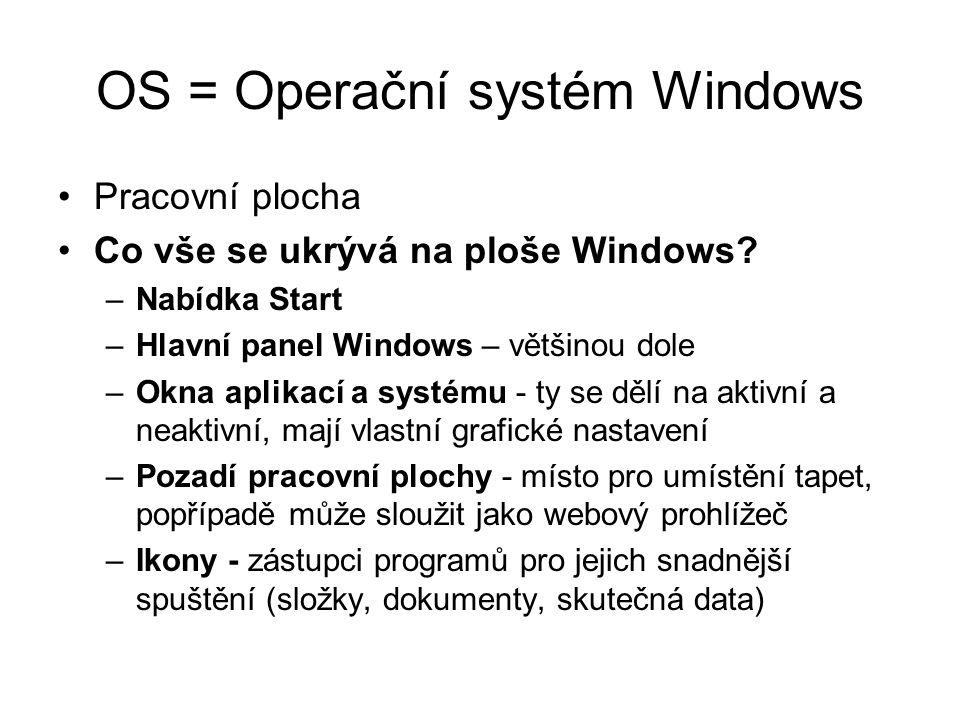 OS = Operační systém Windows