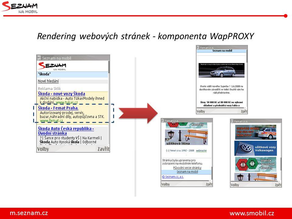 Rendering webových stránek - komponenta WapPROXY