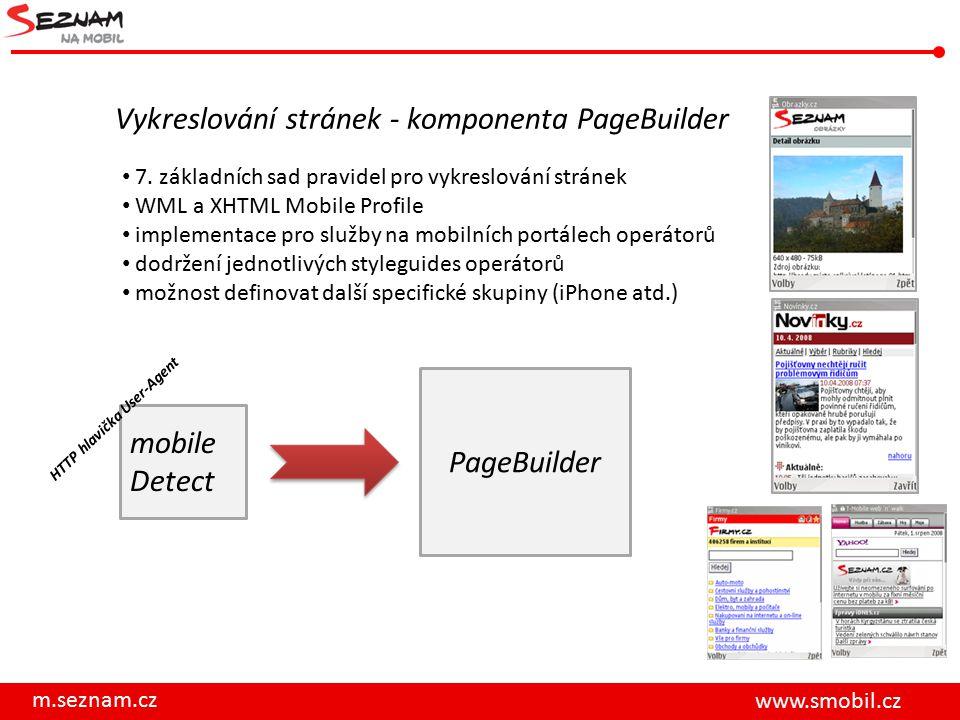 Vykreslování stránek - komponenta PageBuilder