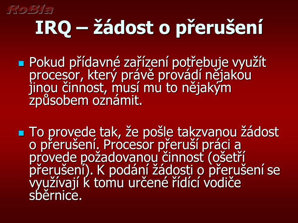 IRQ – žádost o přerušení