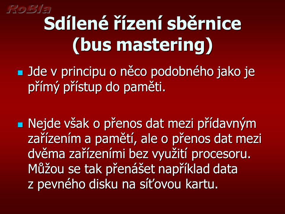 Sdílené řízení sběrnice (bus mastering)