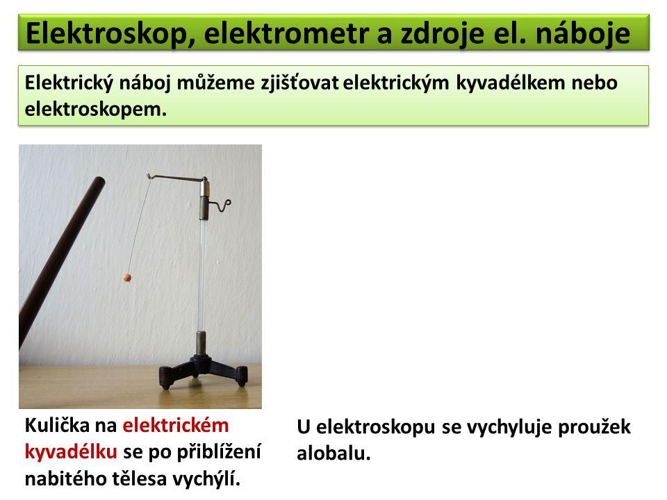 Elektroskop, elektrometr a zdroje el. náboje