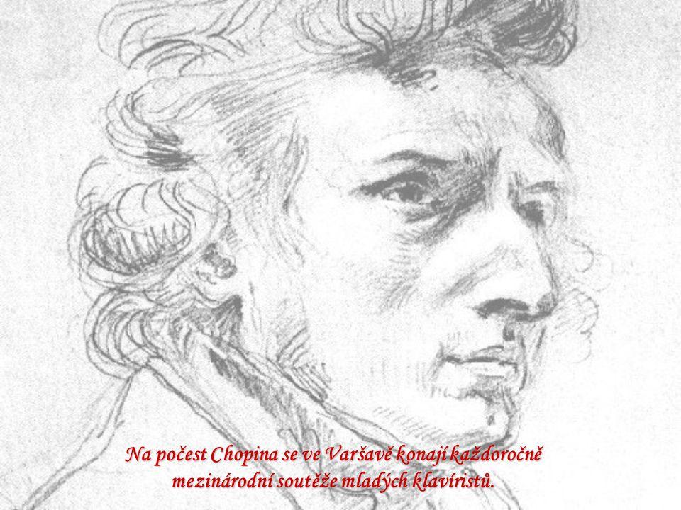 Na počest Chopina se ve Varšavě konají každoročně mezinárodní soutěže mladých klavíristů.
