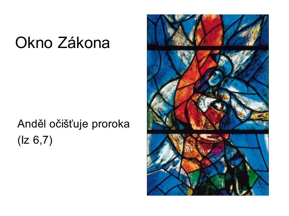 Okno Zákona Anděl očišťuje proroka (Iz 6,7)