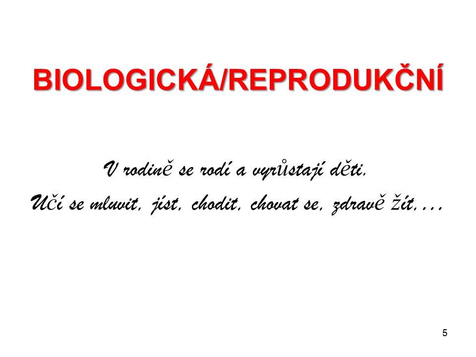 BIOLOGICKÁ/REPRODUKČNÍ