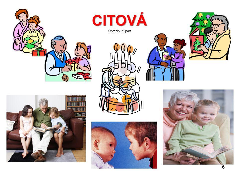 CITOVÁ Obrázky Klipart