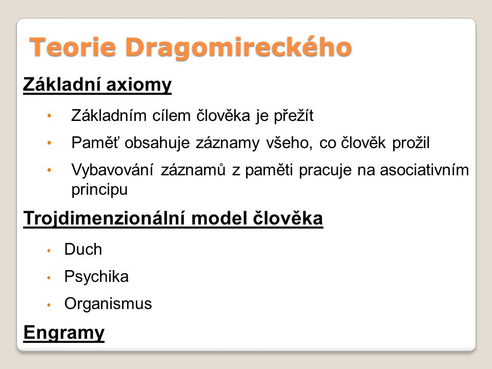 Teorie Dragomireckého