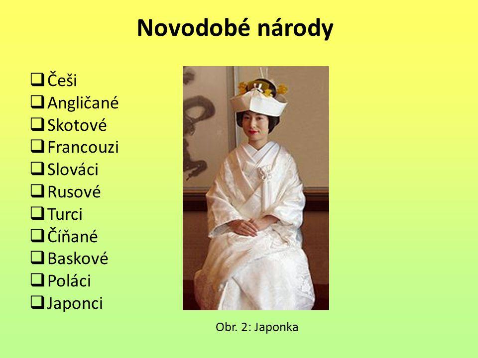 Novodobé národy Češi Angličané Skotové Francouzi Slováci Rusové Turci