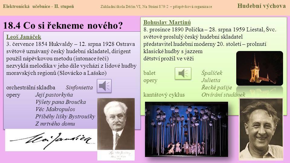 18.4 Co si řekneme nového Bohuslav Martinů