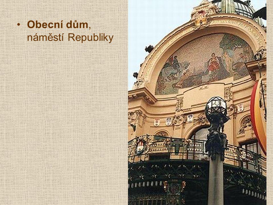 Obecní dům, náměstí Republiky