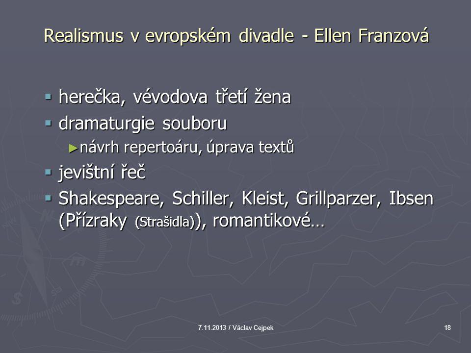 Realismus v evropském divadle - Ellen Franzová