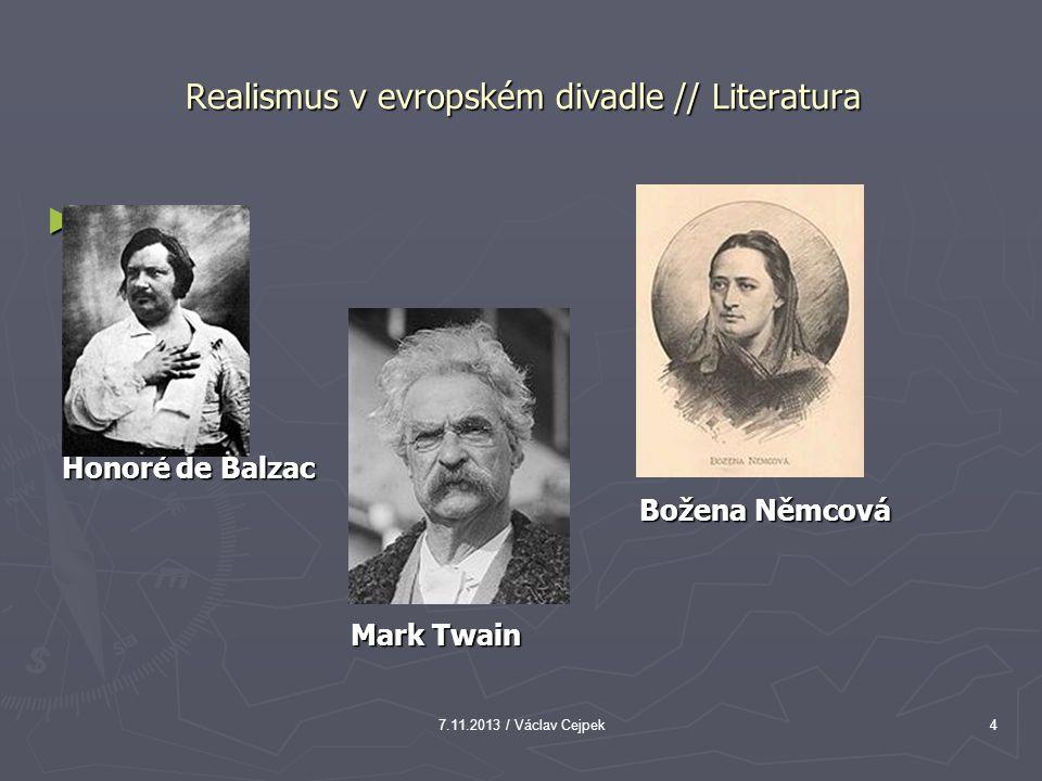 Realismus v evropském divadle // Literatura