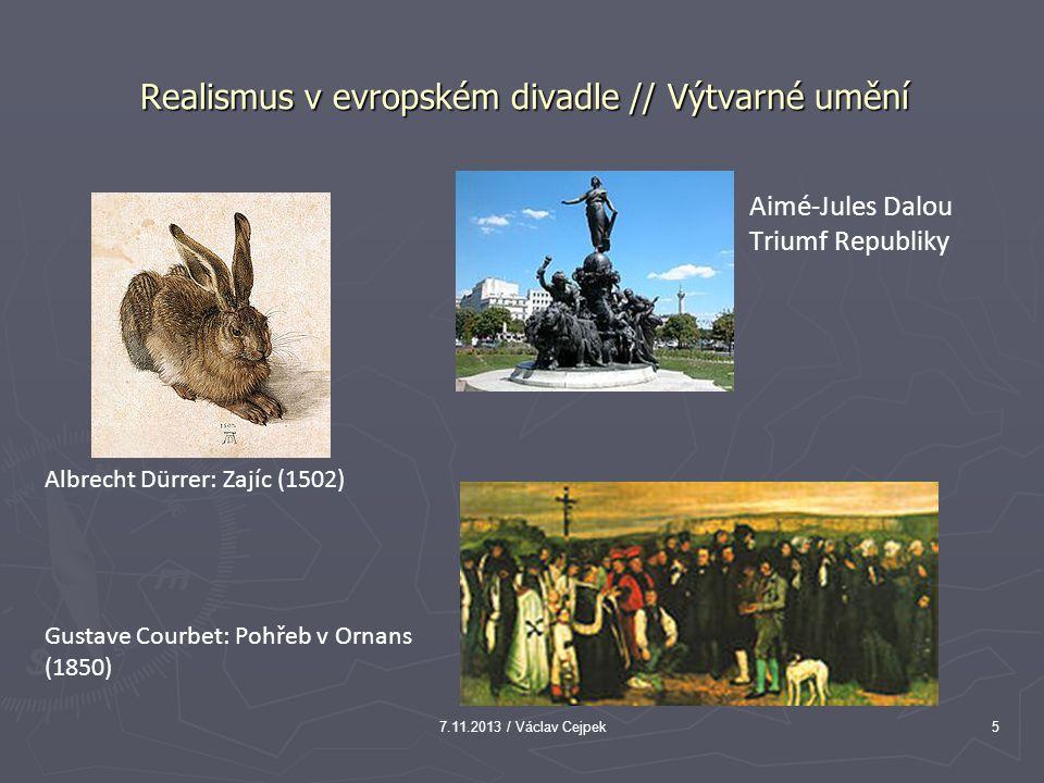 Realismus v evropském divadle // Výtvarné umění