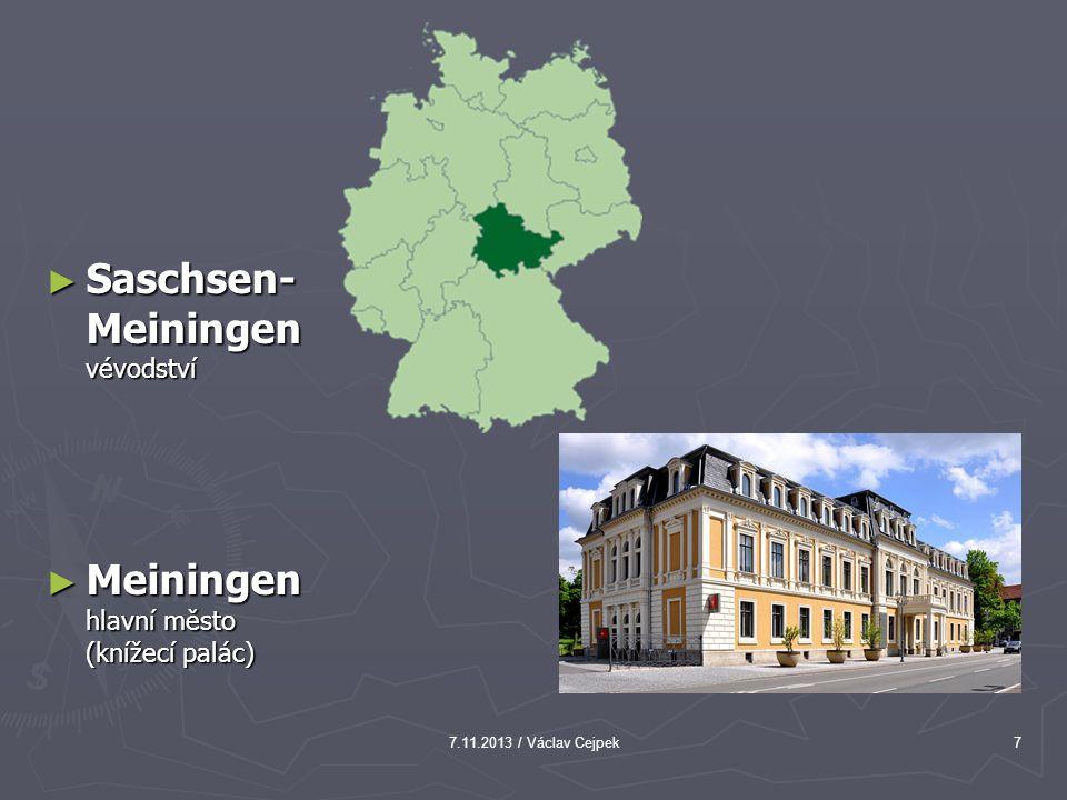 Saschsen-Meiningen vévodství