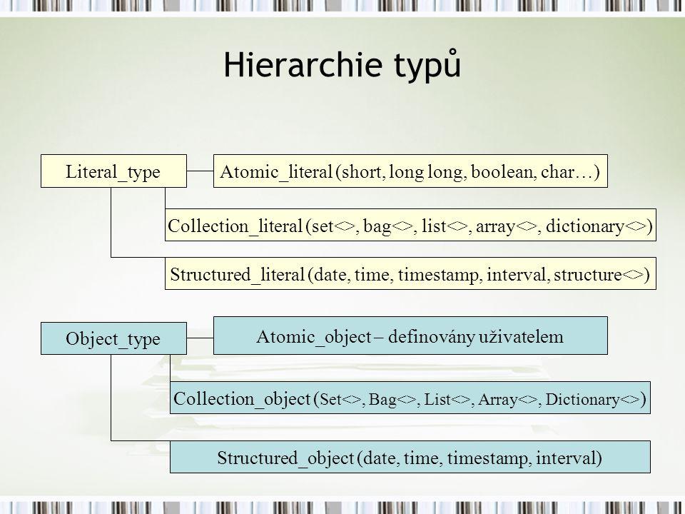Hierarchie typů Literal_type