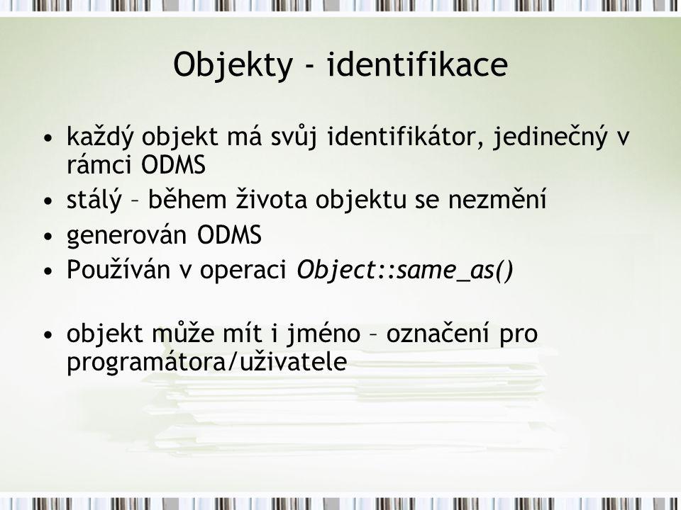 Objekty - identifikace
