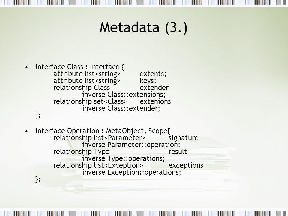 Metadata (3.)