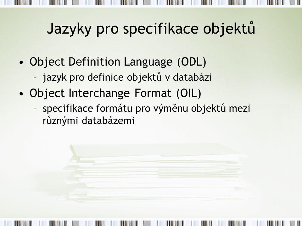 Jazyky pro specifikace objektů
