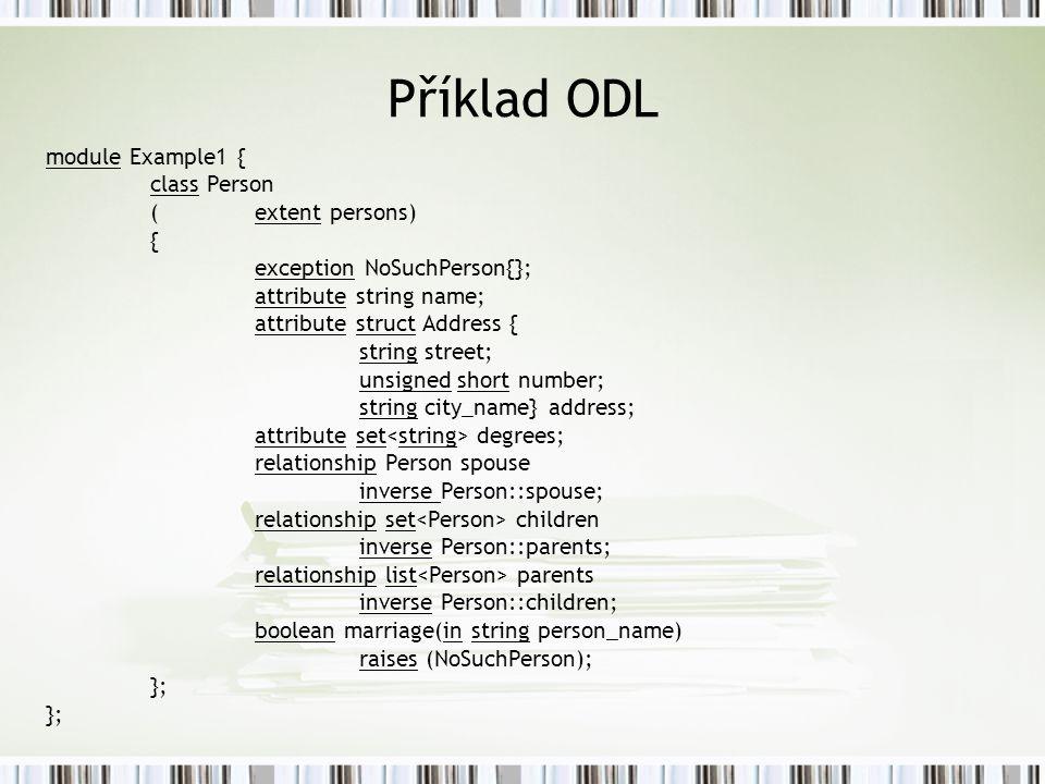 Příklad ODL