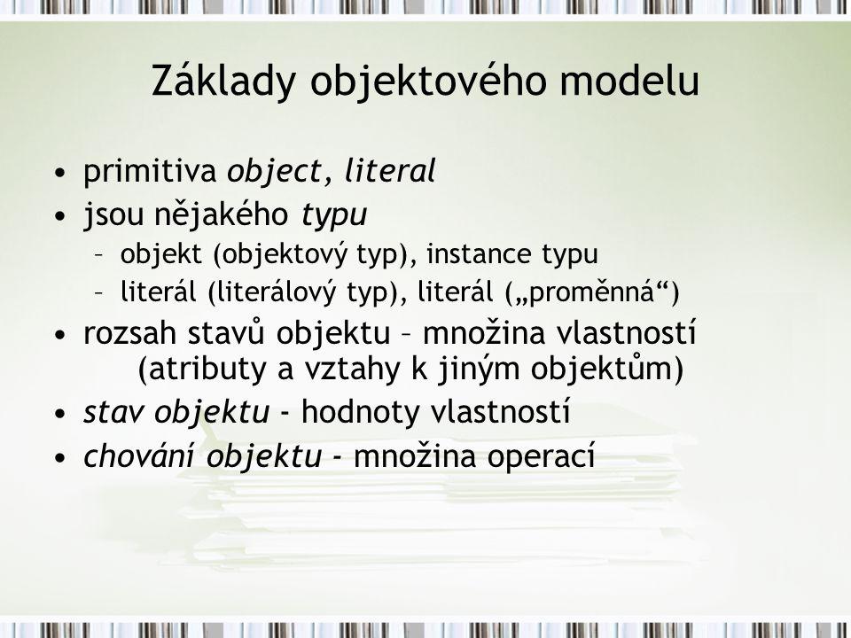 Základy objektového modelu