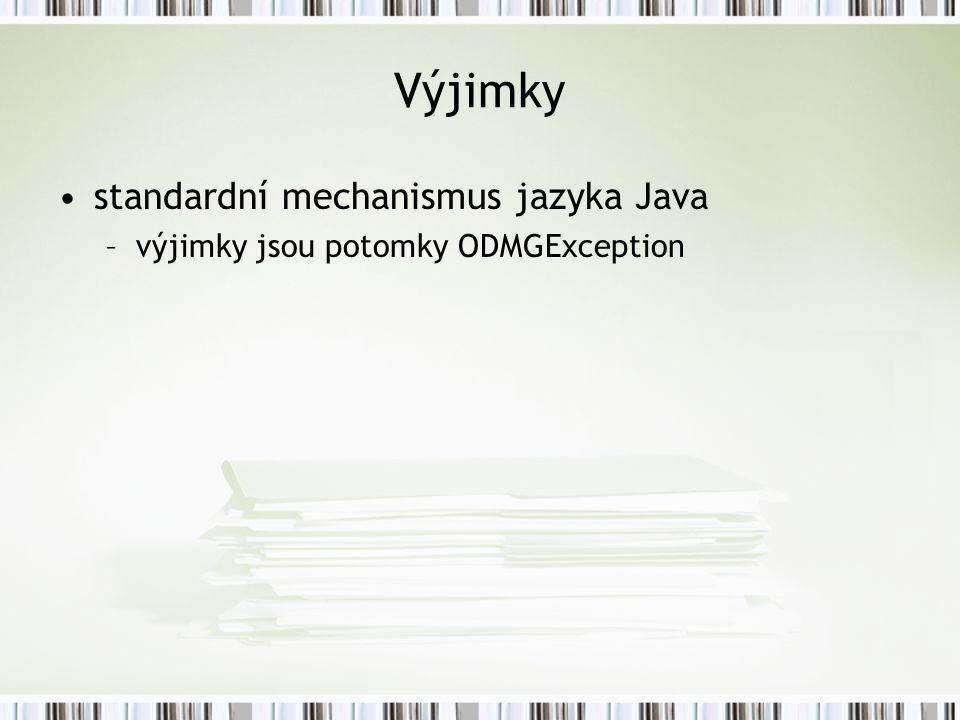 Výjimky standardní mechanismus jazyka Java