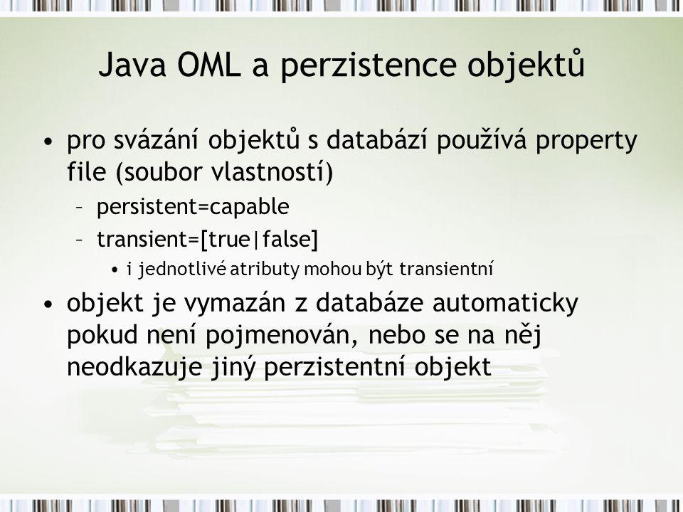 Java OML a perzistence objektů