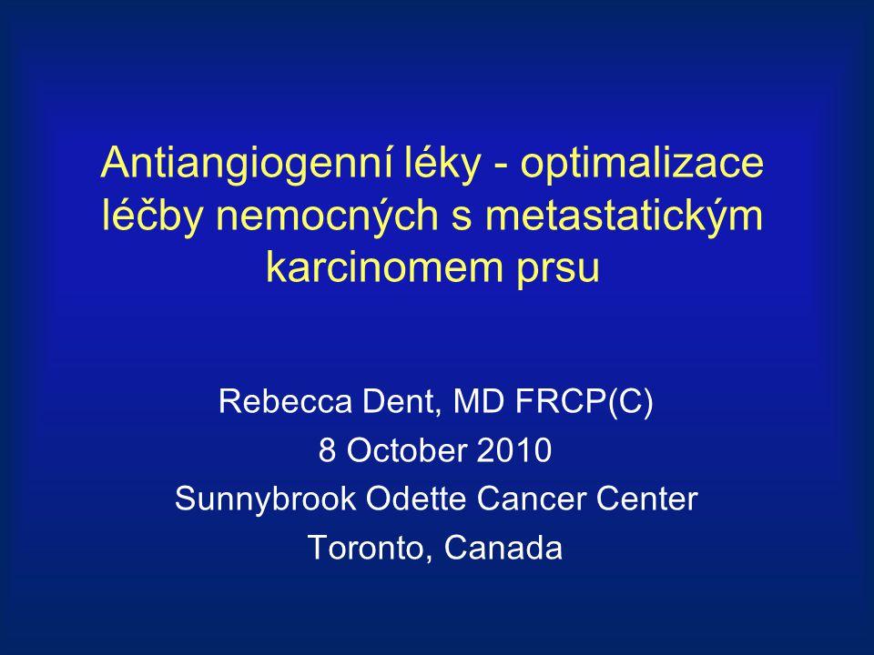 Antiangiogenní léky - optimalizace léčby nemocných s metastatickým karcinomem prsu