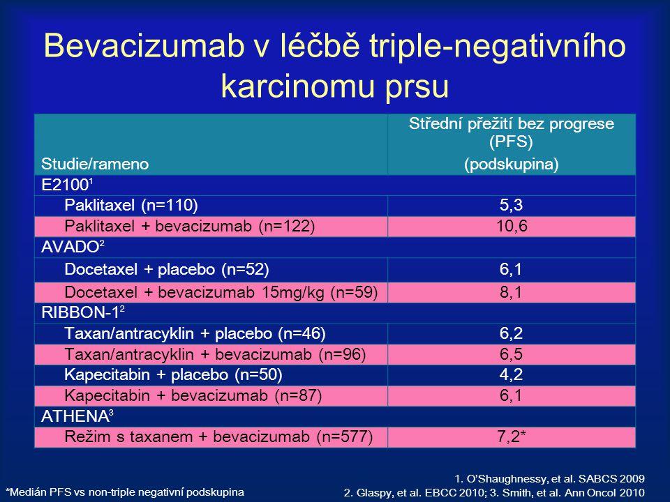 Bevacizumab v léčbě triple-negativního karcinomu prsu