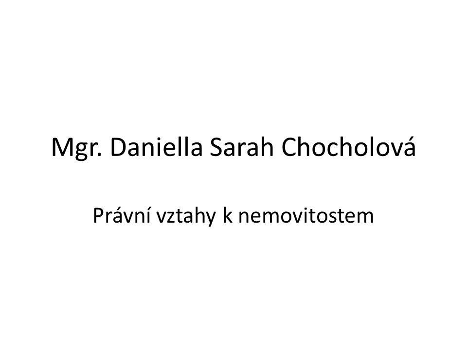 Mgr. Daniella Sarah Chocholová