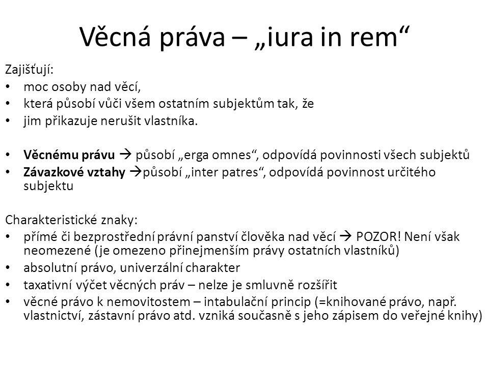 """Věcná práva – """"iura in rem"""