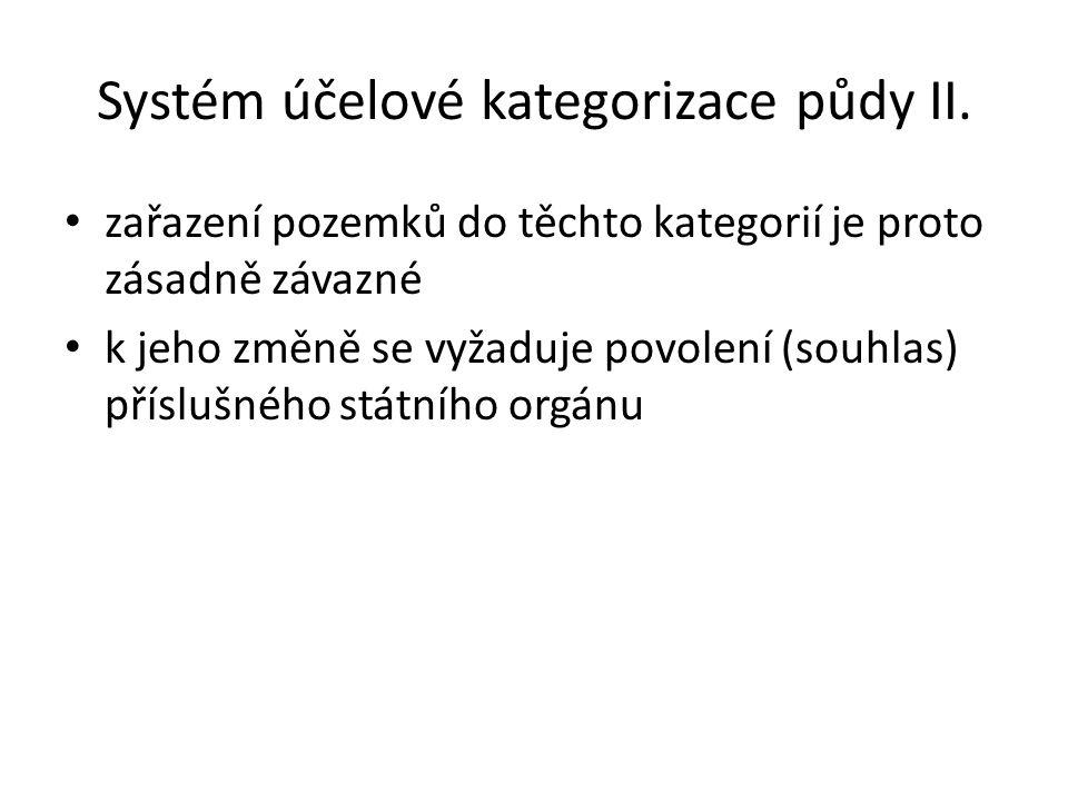Systém účelové kategorizace půdy II.