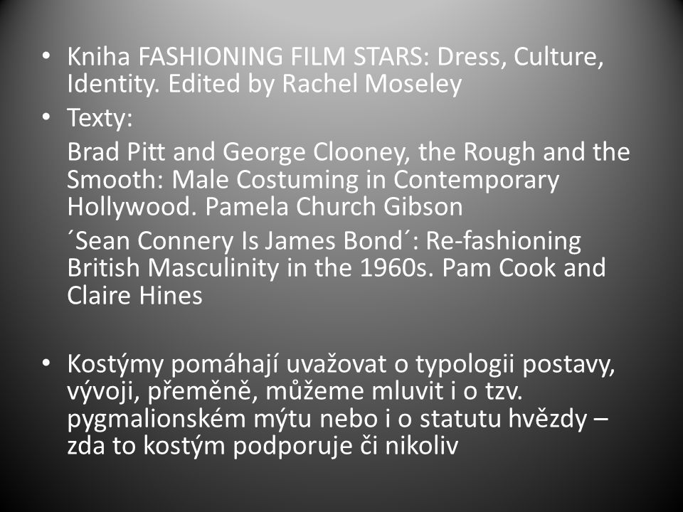 Kniha FASHIONING FILM STARS: Dress, Culture, Identity