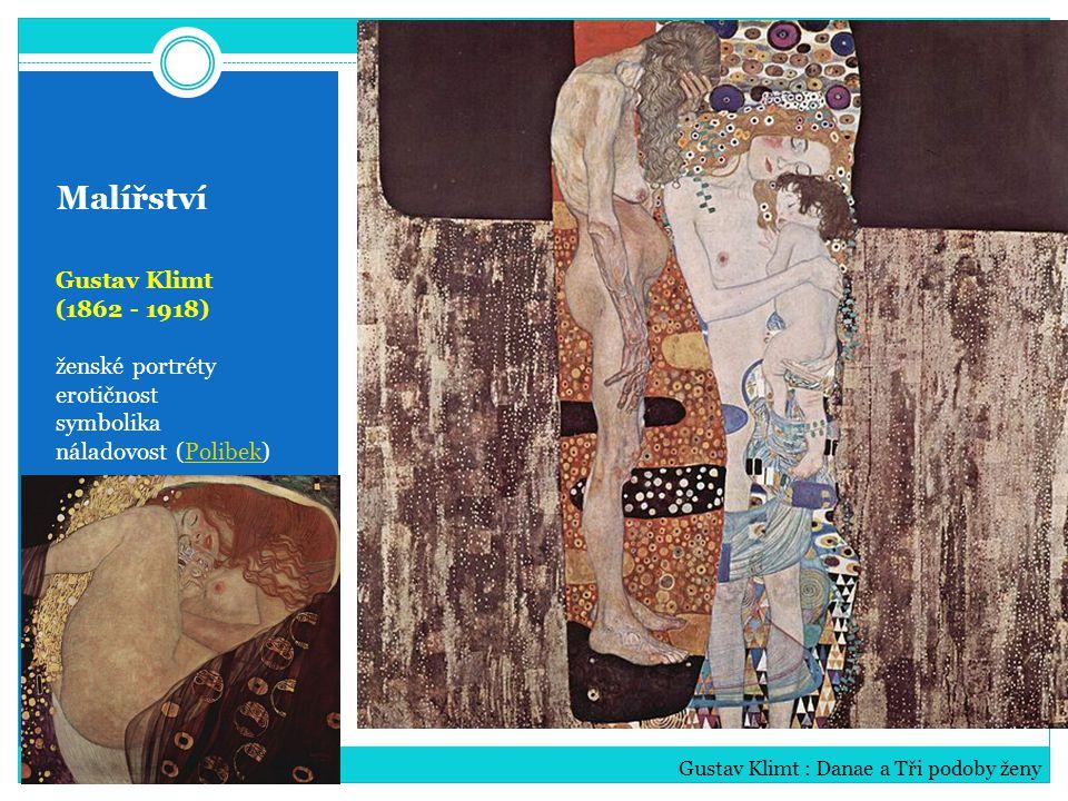 Malířství Gustav Klimt (1862 - 1918) ženské portréty erotičnost