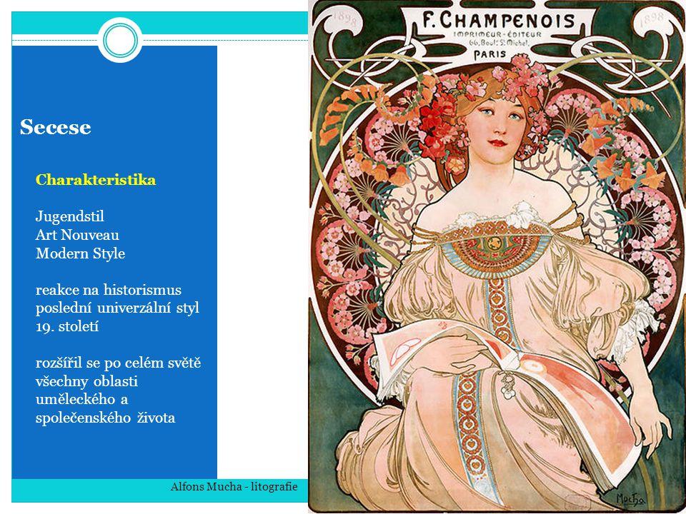 Secese Charakteristika Jugendstil Art Nouveau Modern Style