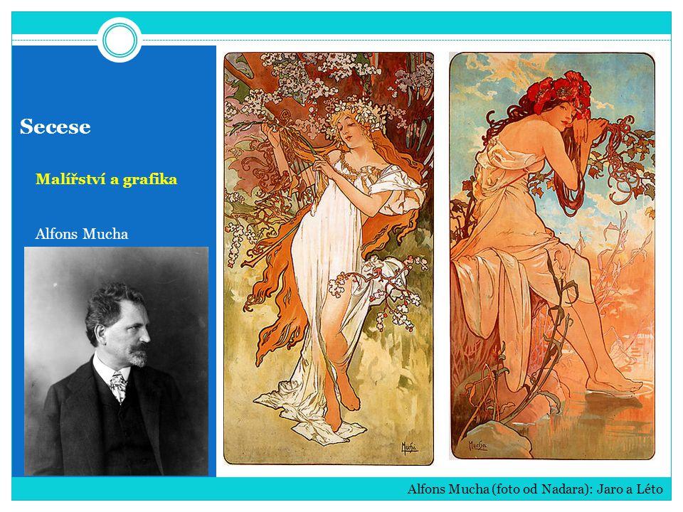 Secese Malířství a grafika Alfons Mucha