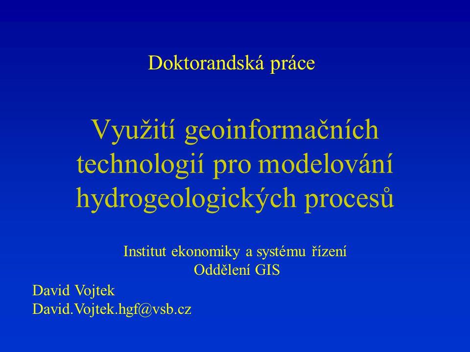 Institut ekonomiky a systému řízení Oddělení GIS