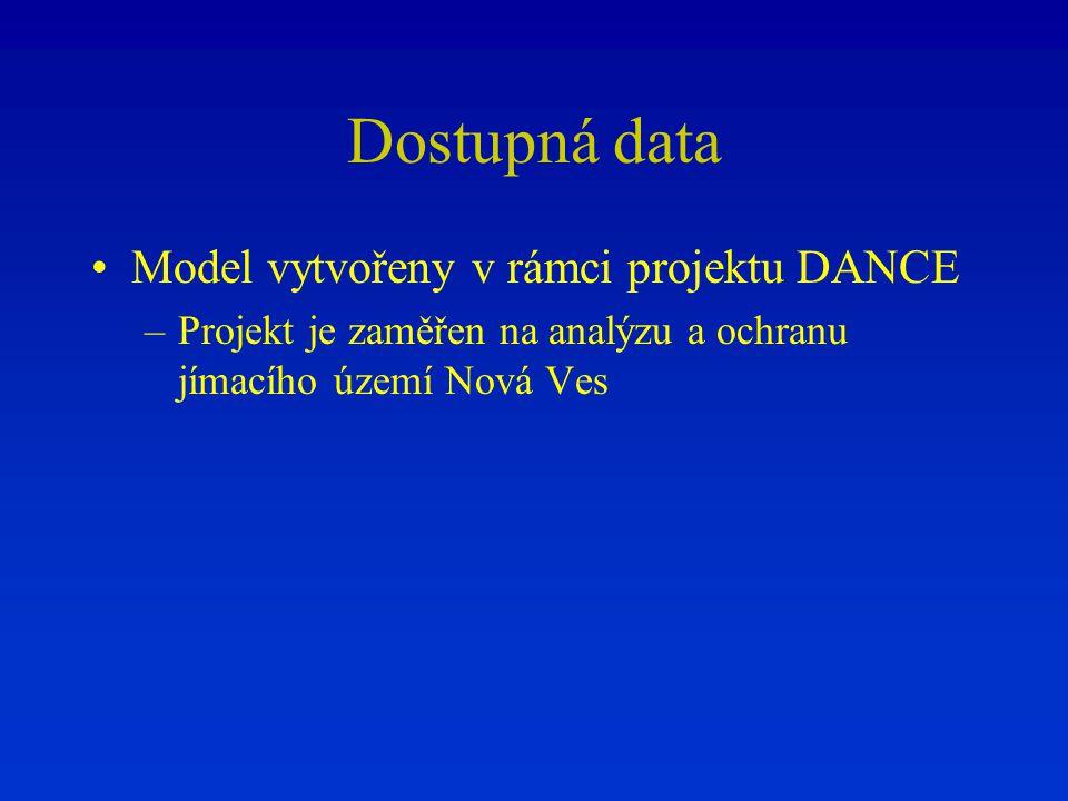 Dostupná data Model vytvořeny v rámci projektu DANCE
