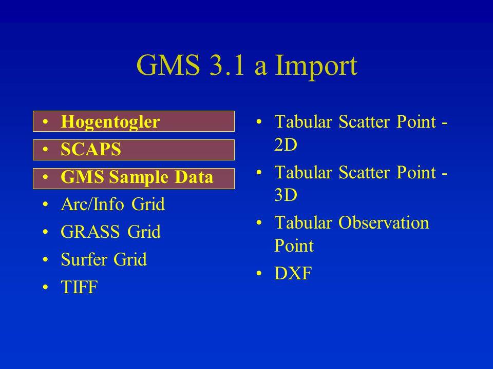 GMS 3.1 a Import Hogentogler SCAPS GMS Sample Data Arc/Info Grid