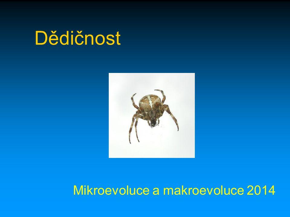 Mikroevoluce a makroevoluce 2014